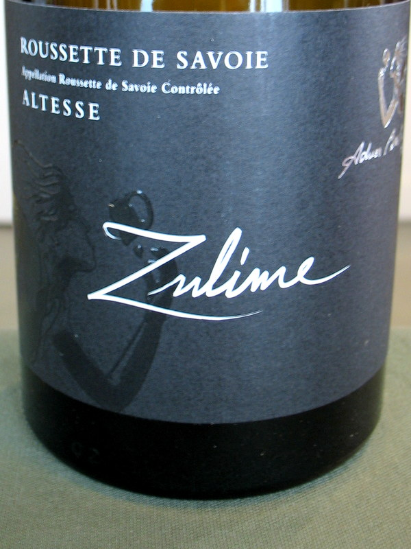 Cellier des Cray 'Cuvee Zulime' (Altesse) 2018