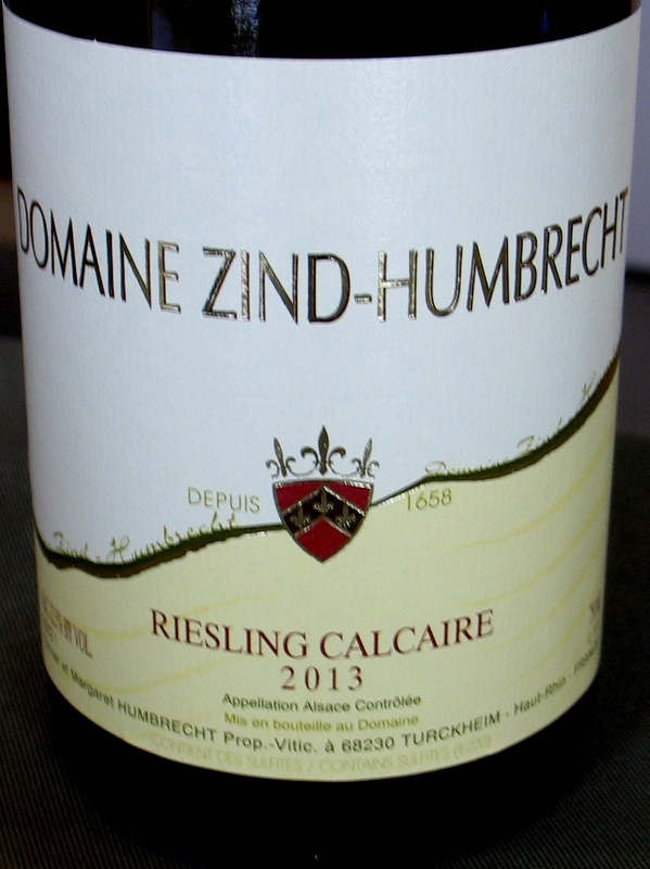 Zind Humbrecht Riesling 'Calcaire' 2013 - Click Image to Close