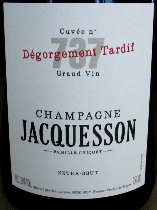 Jacquesson Champagne Cuvee 737 Degorgement Tardif