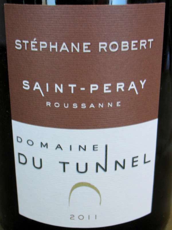 Domaine du Tunnel St Peray Rousanne 2016