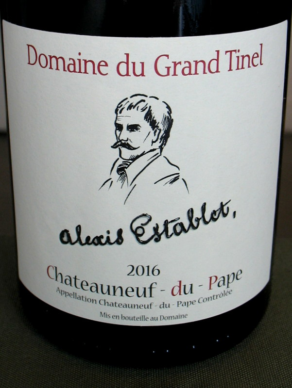 Grand Tinel Chateauneuf Cuvee 'Alexis Establet' 2016