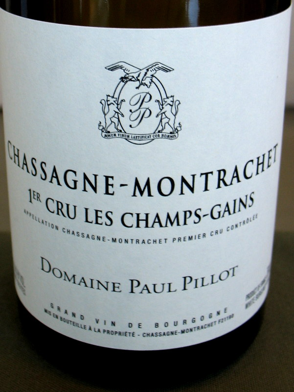 Paul Pillot Chassagne-Montrachet 1er Cru Champs Gains 2014