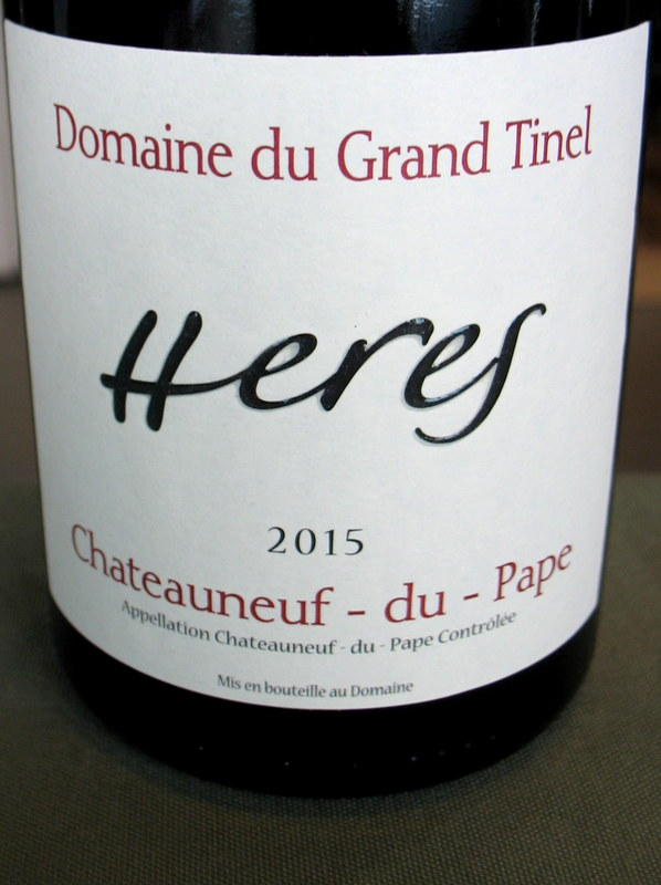 Domaine du Grand Tinel Chateauneuf 'Heres' 2015