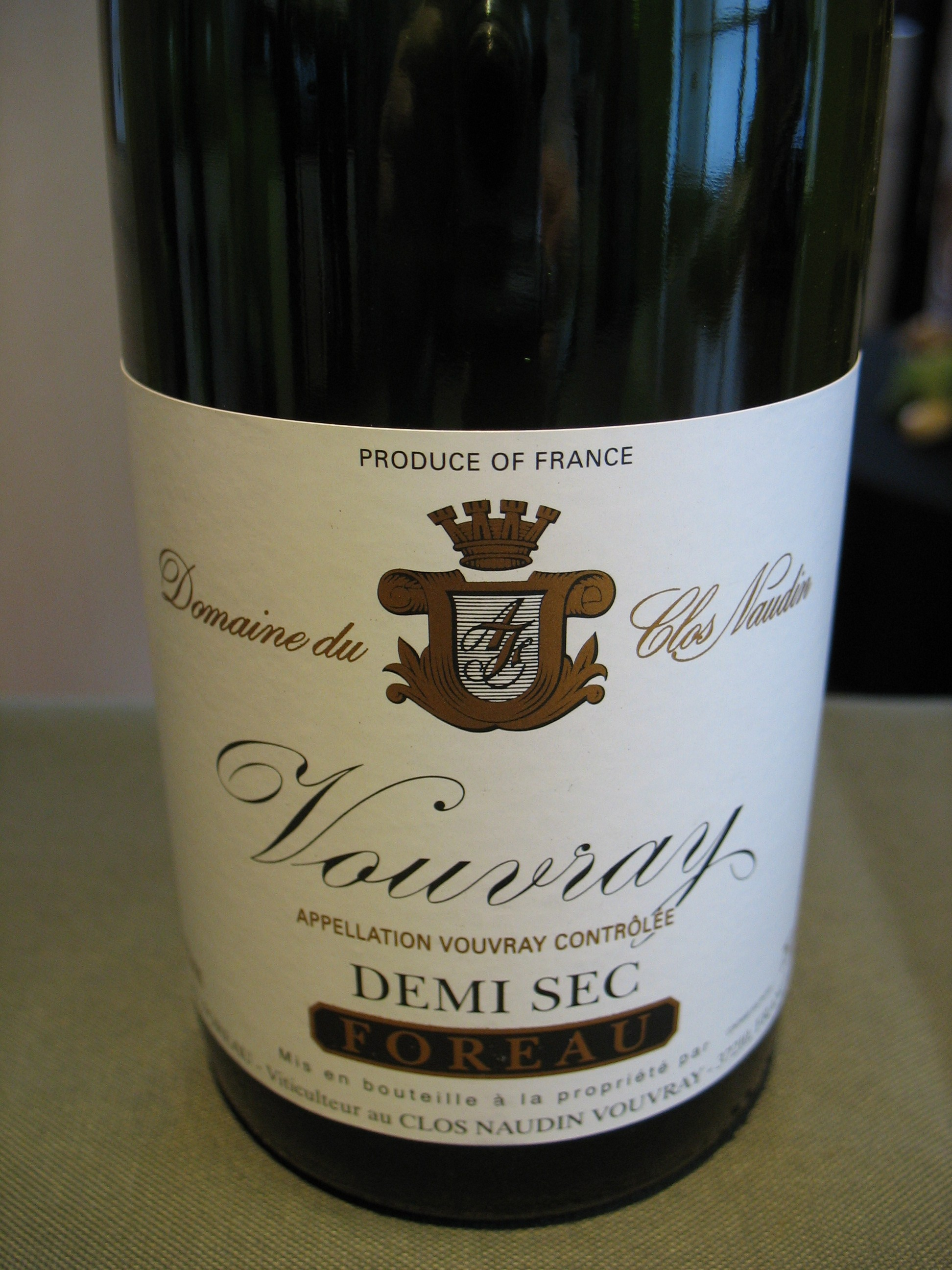 Clos Naudin Vouvray Demi-Sec 2015
